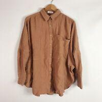 Mod Ref Womens Top Size M/L Lagenlook Cotton Gauze Tunic Blush Clay Boho
