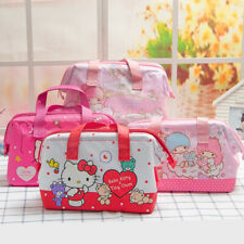 Hello Kitty My Melody Twin Stars Lunch Box Bag Storage Handbag Insulation Picnic