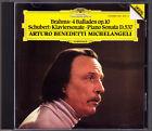 Arturo Benedetti MICHELANGELI: BRAHMS 4 Balladen SCHUBERT Piano Sonata D.537 CD