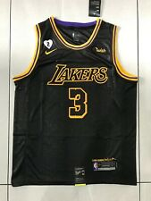 Anthony Davis #3 Lakers Final Black jersey with Love path stitched