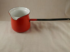 Vintage Red Enamel Ladle handle pouring cup