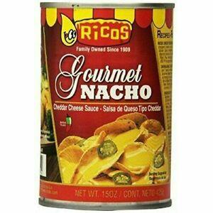 4 PACK RICOS NACHO CHEESE SAUCE GOURMET CHEDDAR