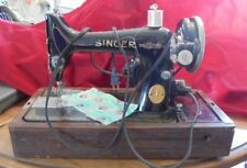 Antique Electric Singer Sewing Machine Model 99-13 w/knee control & case 1929