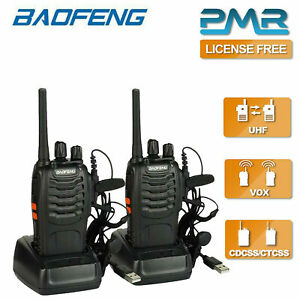 2x Baofeng BF-888S 400-470MHz Walkie Talkie Long Range Two Way Radio + Earpiece