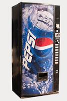 Pepsi Cola Graphic Single Price Vending Machine for Can Sodas - Dixie Narco 440