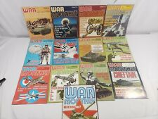 War monthly magazine lot of 13 issues #15,16,17,24,26,27,28,34,37,38,39,40,57.