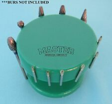 Dental Lab MAGNETIC Bur Holder STAND ROUND GREEN Burs Block Holder