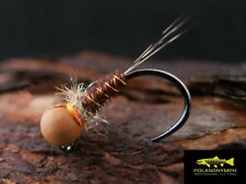 10 Pheasant Tail Jig Euro Nymphs Fasna  Hooks size 12,14,16 Tungsten Heads