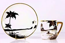 VINTAGE ART DECO NORITAKE JAPAN DEMI TASSE CUP AND SAUCER