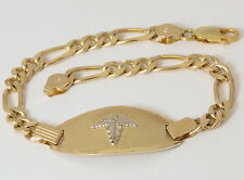 10K Solid Yellow Gold Medical ID Bracelet with Custom Engraving