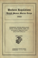 1922 WW I Marine Corps USMC Uniform EGA Insignia & Chevron Regulations Book