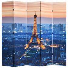 vidaXL Kamerverdeler Parijs bij Nacht 200x180 cm Zwart en Wit Kamerscherm