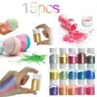 15 Color Set Mica Pigment Powder Perfect For Soap Resin Dye Cosmetics R3Y2