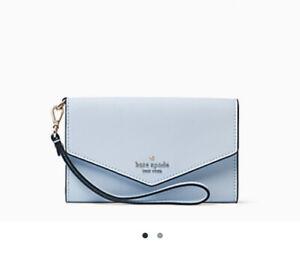 Kate Spade Laurel Way Blue Pastel Phone Wristlet Wallet NWT