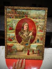 ChromoLithographie Gadola & Cie Jeanne d'Arc brulée par les anglais à Rouen