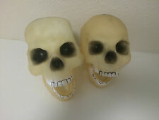 Plastic Rubber Skeleton Skull Heads Halloween Haunted Prop Decor Scary