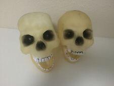 Plastic Rubber Skeleton Skull Heads Halloween Haunted Prop Decor Scary