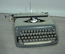 1965 Typewriter Consul 232 portable grey beige Metal Czech top working in case