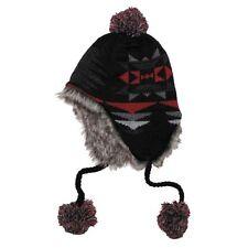 Berretto Perù ICA con pelliccia nero rosso cappello invernale Copricapo
