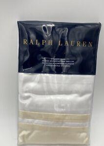 1 RALPH LAUREN BOWERY HOLLYWOOD CREAM STANDARD SHAM MSRP $130 BRAND NEW