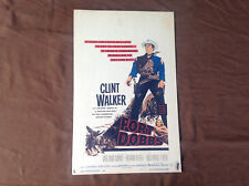 1956 Fort Dobbs Original Movie House Poster