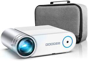 "NEW!Projector, GooDee Upgrade G500 Mini Video Projector, Max 200"" Portable movie"