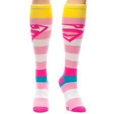 Superman Tilted Logo Knee High Socks