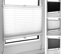 Pleated Folding Blind Made to Measure ☆ aturi ☆ Opaque 100/% Blackout Profile Ivory