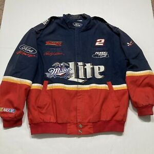 Miller Lite Rusty Wallace Nascar Jacket Chase Authentics Jacket Embroidered 90s