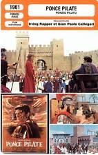 FICHE CINEMA : PONCE PILATE - Marais,Crain 1961 Pontius Pilate / Ponzio Pilato