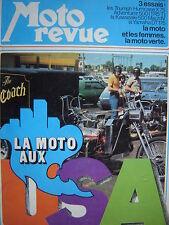 MOTO-REVUE 1973 SPECIAL ETE / KAWASAKI 500 MACH IV / TRIUMPH HURRICANE + TR5 T