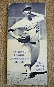 1977 Los Angeles DODGERS NLCS Media Guide - Rare Edition -Media Only vs PHILLIES