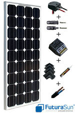 Kit panneau solaire 100W 12V pour camping car complet marque italienne Futurasun