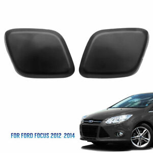 (L & R) Bumper Headlight Headlamp Washer Jet Cover For Ford Focus 2012-2014 UK