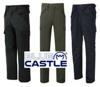Blue Castle QUALITY Mens Cargo Action WORK Durable TROUSERS with 6 Pockets