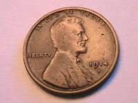 1914-S Nice VF Lincoln Wheat Cent Nice Original Tone 1 Penny Bronze US Coin
