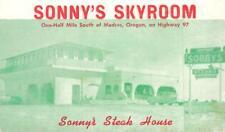 SONNY'S SKYROOM Madras, Oregon Highway 97 Roadside Steak House ca 1940s Postcard
