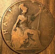 1910 UK GREAT BRITAIN HALF PENNY