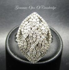 9ct Gold 0.57ct Diamond Cluster Ring Size N 3.2g 1.7 carats tcw