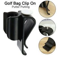 1 Pcs Golf Bag Clip On Putter Clamp Holder Putting Organizer Club Ball MarkerS5Y
