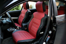 Front + Rear 5 seat Genenal Car Seat Cover PU Leather for all Season Red&Black