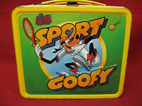 Vintage Walt Disney Metal Sport Goofy Lunch Box by Aladdin Industries 1983