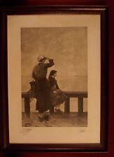 Gravure encadrée et signée par George Haquette - 1889
