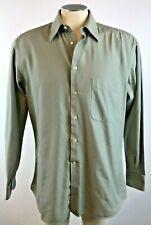 Ermengildo Zegna Mens Dress Shirt 15.5 Small S Woven Button Up 39 Free Shipping