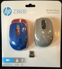 HP Wireless Optical Portable Mouse MAC & PC, 3 Buttons Z3600 NEW Three Colors