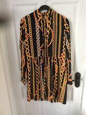 Bnwt Ladies Shirt Dress Chain Print Size 8 Really Smart