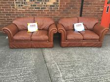 Laura Ashley Solid Leather Sofas