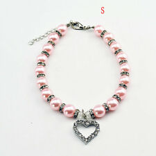 Beauty Rhinestones Pearls Love Puppy Pet Dog Cat Collar Necklace Accessories