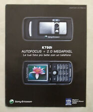 B774-Advertising Pubblicità-2005-SONY ERICSSON K 750 i AUTOFOCUS