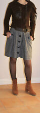 Made in France Zone Bleue Unique Brown Sweater Jacket Size S Women's